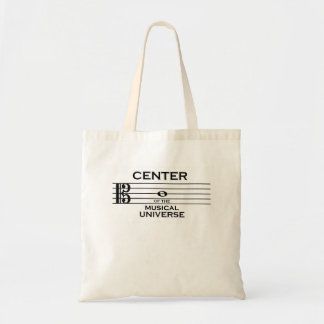 Center of the Musical Universe Alto Clef Design Tote Bag