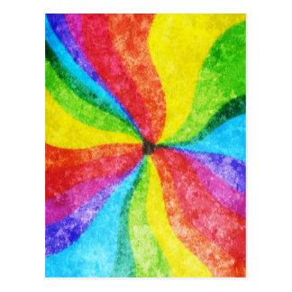 Center of the Rainbow Postcard