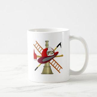 Center Scramble Fire Department Design Coffee Mug