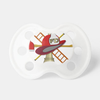 Center Scramble Fire Department Design Pacifier
