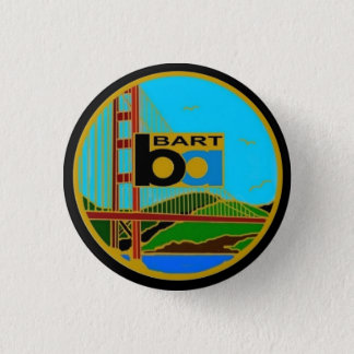 Center Seal Bay Area Rapid Transit 1 Inch Round Button