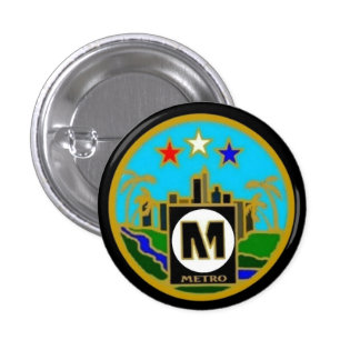 Center Seal- Los Angeles Metro Buses 1 Inch Round Button