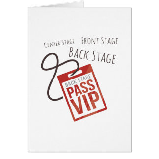 Center Stage Greeting Card