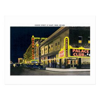 Center Street, Reno, Nevada Postcard