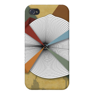 Center Yourself-Digital Grunge Abstract Art iPhone 4 Case