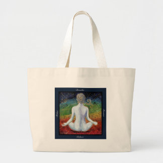 Centered Living Chakra Energy Large Tote Bag