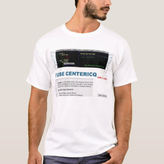 centericq use/konst hate t-shirt