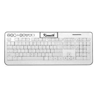 Centesimal 10 Digit '3x3x3 Puz' by Kenneth Yoncich Wireless Keyboard