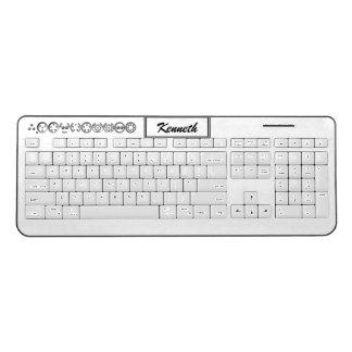 Centesimal 10 Digit Pi by Kenneth Yoncich Wireless Keyboard