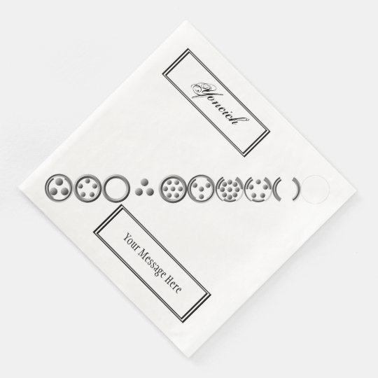 Centesimal 10 Digit'That 3x3x3' by Kenneth Yoncich Disposable Napkins