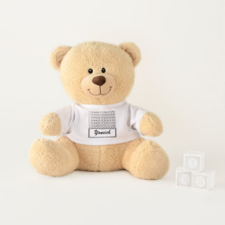 Centesimal Number Chart L-S by Kenneth Yoncich Teddy Bear