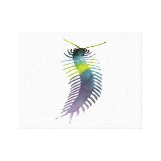 Centipede Art Canvas Print