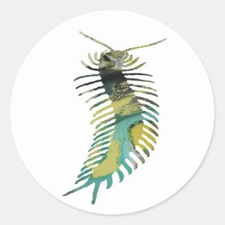 Centipede Art Classic Round Sticker