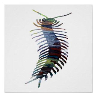 Centipede Art Poster