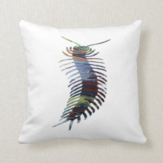 Centipede Art Throw Pillow