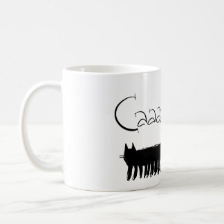 Centipede black cat mug