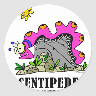 Centipede by Lorenzo © 2018 Lorenzo Traverso Classic Round Sticker