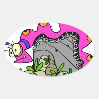 Centipede by Lorenzo © 2018 Lorenzo Traverso Oval Sticker