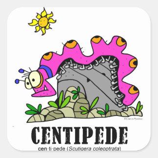 Centipede by Lorenzo © 2018 Lorenzo Traverso Square Sticker