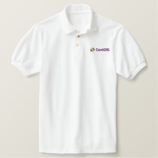 CentOS White Polo Shirt