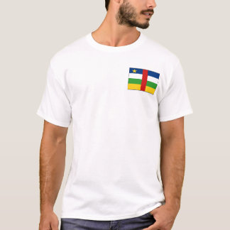 Centrafrique Flag and Map T-Shirt