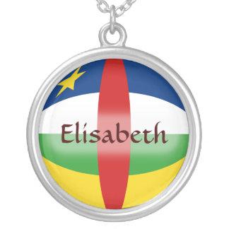 Centrafrique Flag + Name Necklace