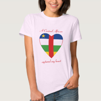 Centrafrique Flag Sweetheart T-Shirt