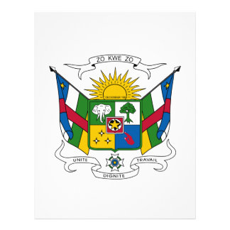 Central African Republic Coat of Arms Personalized Letterhead