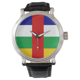 Central African Republic country flag symbol long Watch
