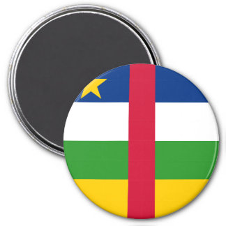 Central African Republic Flag 3 Inch Round Magnet