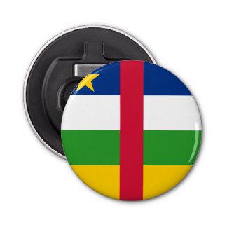Central African Republic Flag Button Bottle Opener