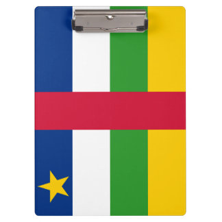 Central-African Republic Flag Clipboard