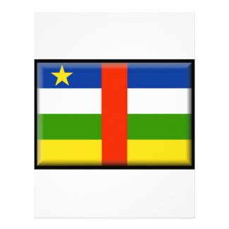 Central African Republic Flag Letterhead Template