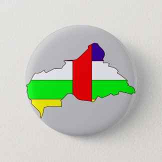 Central African Republic flag map 2 Inch Round Button