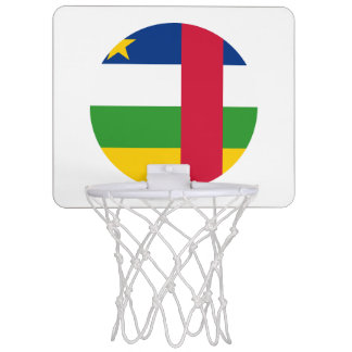 Central-African Republic Flag Mini Basketball Hoop