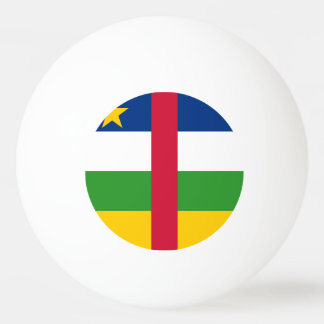 Central African Republic Flag Ping-Pong Ball