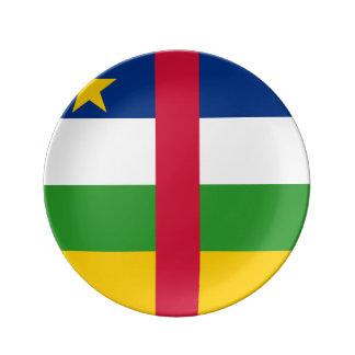 Central African Republic Flag Porcelain Plate