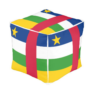 Central-African Republic Flag Pouf