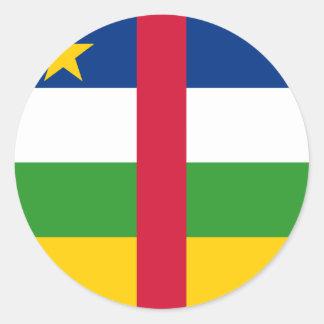 Central African Republic Flag Round Sticker