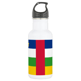 Central African Republic National World Flag 532 Ml Water Bottle