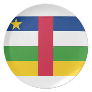 Central African Republic National World Flag Plate