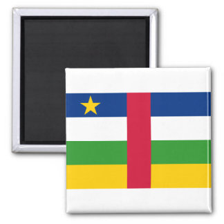 Central African Republic National World Flag Square Magnet