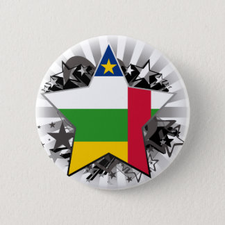 Central African Republic Star 2 Inch Round Button