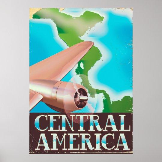 Central America vintage flight poster