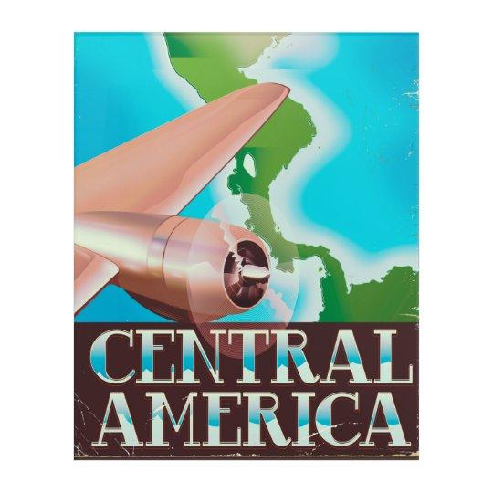Central America vintage flight poster Acrylic Print
