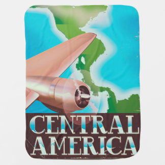 Central America vintage flight poster Baby Blanket