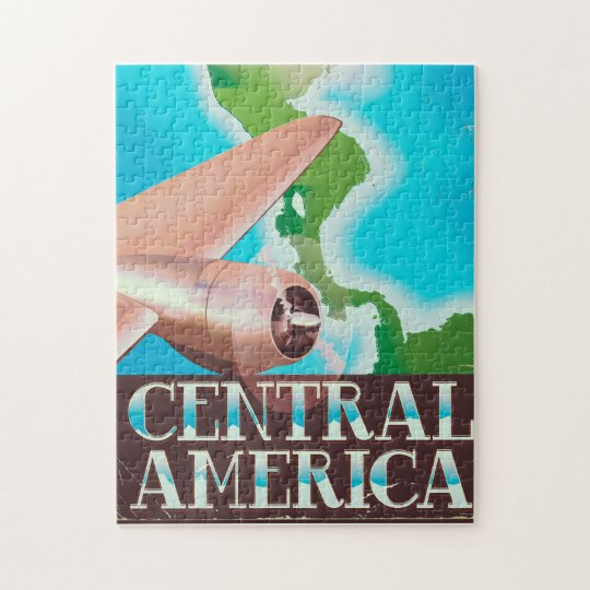 Central America vintage flight poster Jigsaw Puzzle