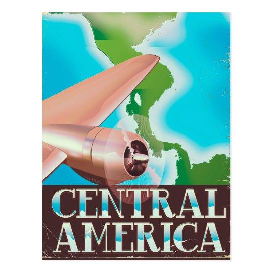 Central America vintage flight poster Postcard