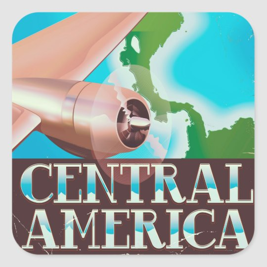 Central America vintage flight poster Square Sticker