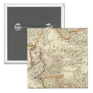 Central Asia 2 Inch Square Button